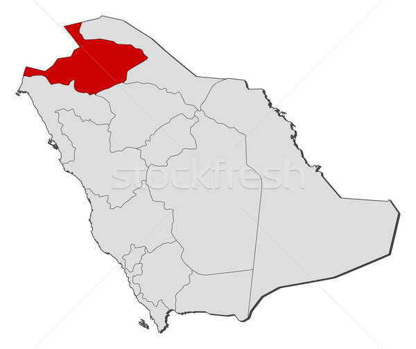 ストックフォト: 地図 · サウジアラビア · 政治的 · いくつかの · 抽象的な · 地球