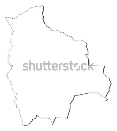 Térkép Bolívia politikai néhány absztrakt világ Stock fotó © Schwabenblitz