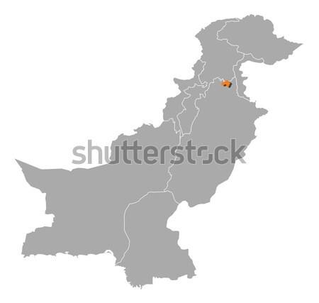 Harita Pakistan siyasi birkaç soyut arka plan Stok fotoğraf © Schwabenblitz