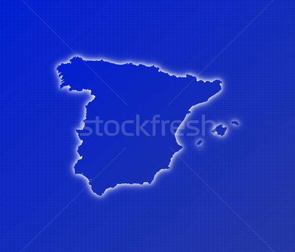 Map of Spain Stock photo © Schwabenblitz