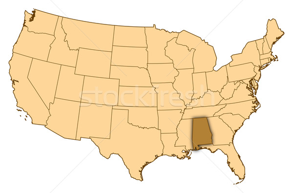 Harita Amerika Birleşik Devletleri Alabama soyut arka plan iletişim Stok fotoğraf © Schwabenblitz