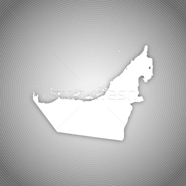 Foto stock: Mapa · Emirados · Árabes · Unidos · político · vários · abstrato · mundo