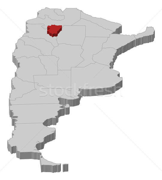 Map of Argentina, Tucum Stock photo © Schwabenblitz