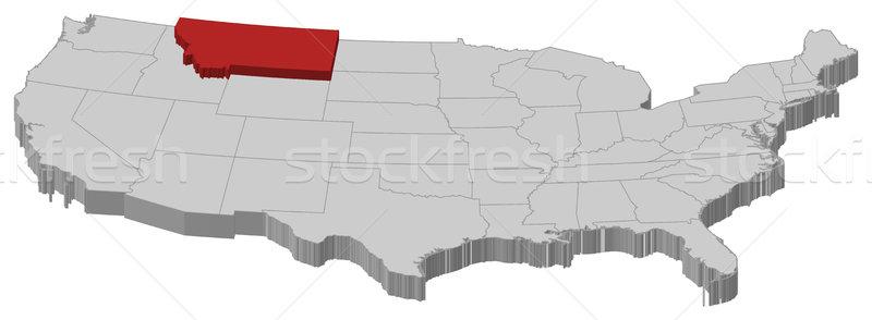 Carte États-Unis Montana politique plusieurs résumé Photo stock © Schwabenblitz
