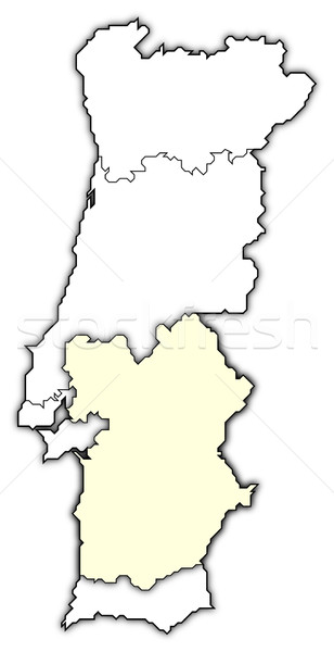 Map of Portugal, Alentejo highlighted Stock photo © Schwabenblitz