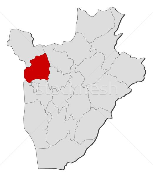 Map - Burundi, Bubanza Stock photo © Schwabenblitz