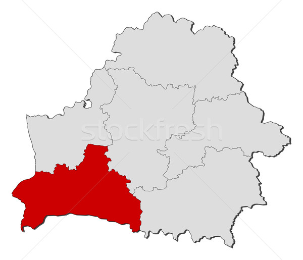 Map of Belarus, Brest highlighted Stock photo © Schwabenblitz