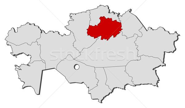 Mapa Cazaquistão político vários regiões globo Foto stock © Schwabenblitz