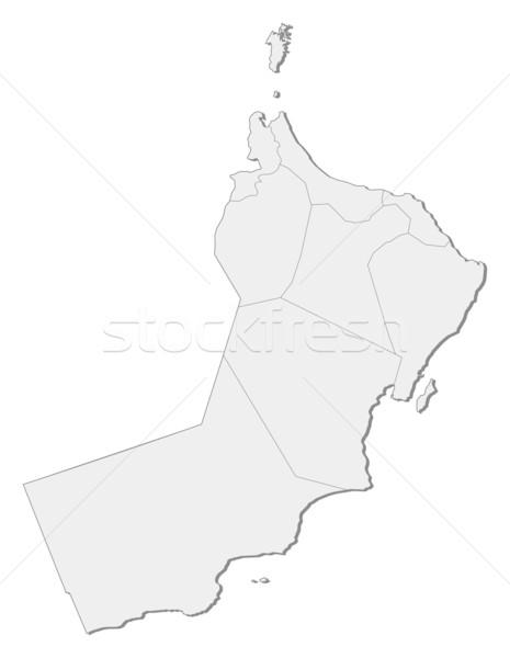 Térkép Omán politikai néhány régiók absztrakt Stock fotó © Schwabenblitz
