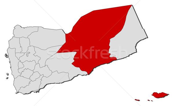 Kaart Jemen politiek verscheidene abstract aarde Stockfoto © Schwabenblitz