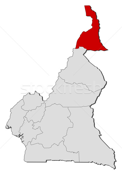 Map of Cameroon, Far North highlighted Stock photo © Schwabenblitz