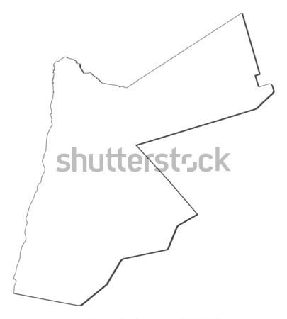 Mapa Jordânia político vários abstrato mundo Foto stock © Schwabenblitz
