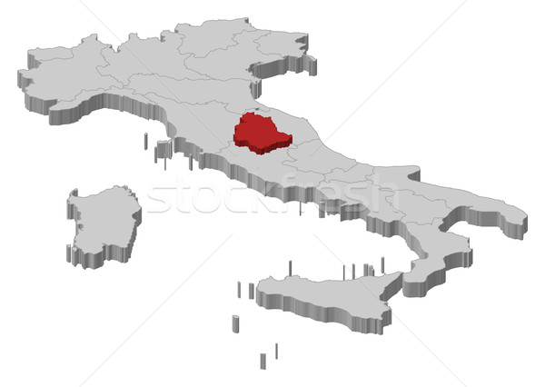 Map of Italy, Umbria highlighted Stock photo © Schwabenblitz