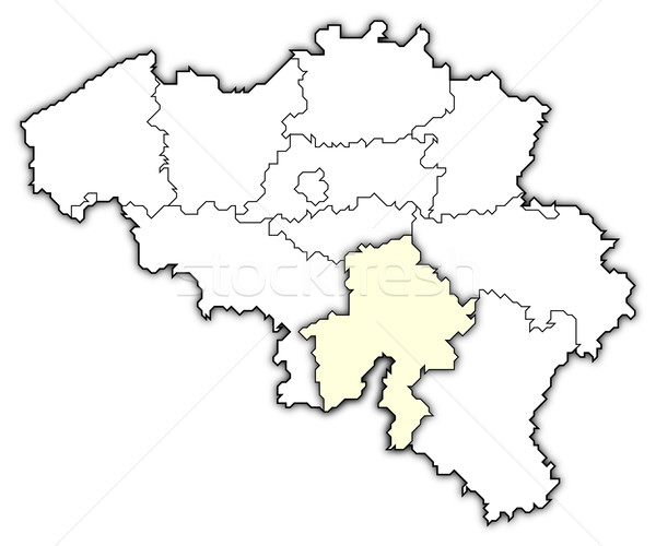 Map of Belgium, Namur highlighted Stock photo © Schwabenblitz