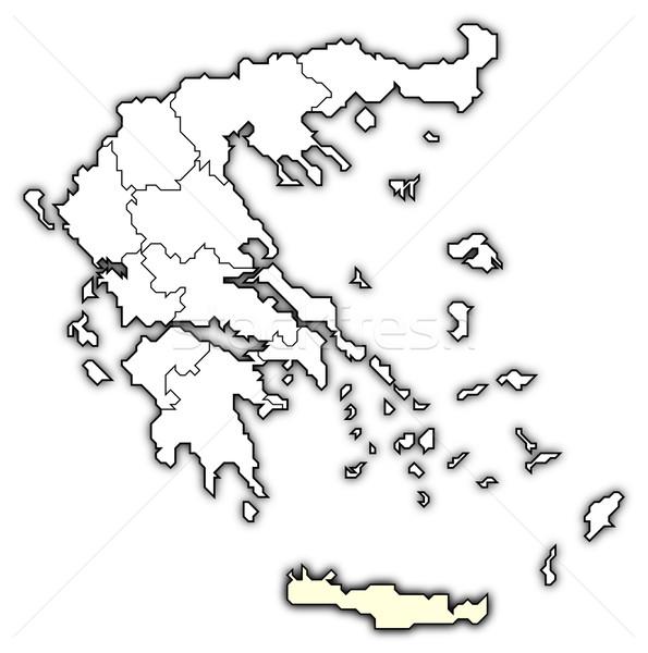 Map of Greece, Crete highlighted Stock photo © Schwabenblitz