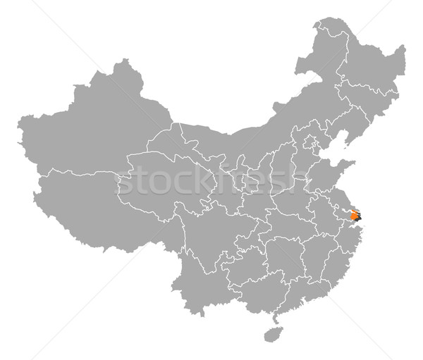 Map of China, Shanghai highlighted Stock photo © Schwabenblitz