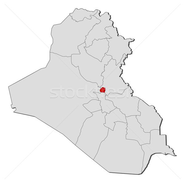 地図 イラク 政治的 いくつかの 抽象的な 地球 ストックフォト © Schwabenblitz