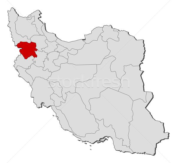 Stockfoto: Kaart · Iran · politiek · verscheidene · abstract · aarde