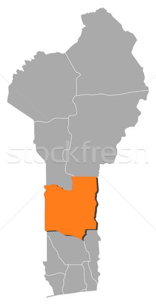 Harita Benin soyut arka plan iletişim siluet Stok fotoğraf © Schwabenblitz
