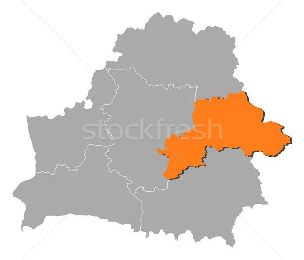 карта Беларусь политический несколько аннотация фон Сток-фото © Schwabenblitz