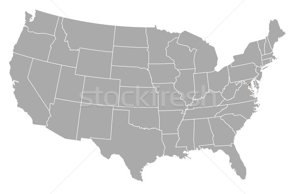 Map of the United States, Washington, D.C. highlighted Stock photo © Schwabenblitz