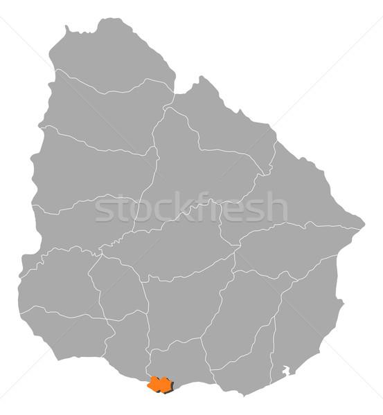 карта Уругвай Монтевидео политический несколько аннотация Сток-фото © Schwabenblitz