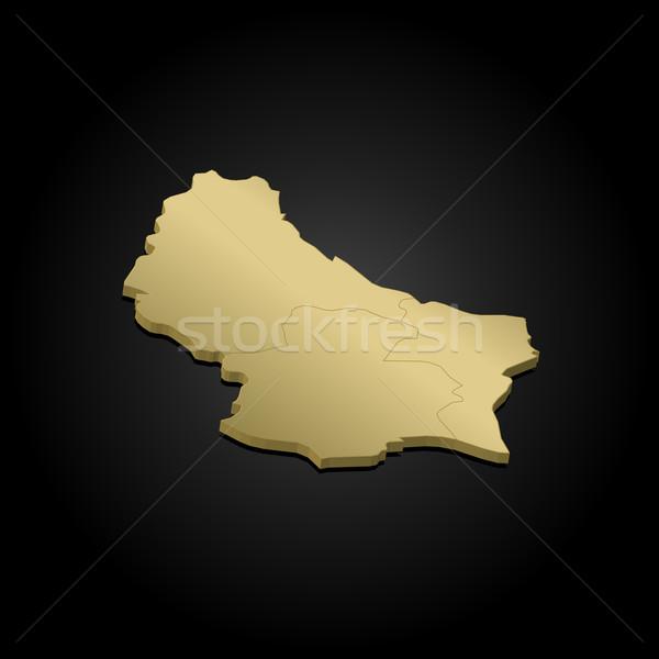 карта Люксембург политический несколько аннотация Мир Сток-фото © Schwabenblitz