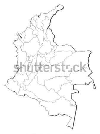 Térkép Colombia absztrakt világ háttér piros Stock fotó © Schwabenblitz