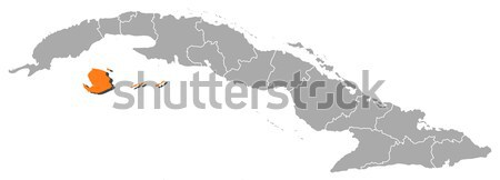 Map of Cuba, Isla de la Juventud highlighted Stock photo © Schwabenblitz