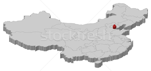 Map of China, Tianjin highlighted Stock photo © Schwabenblitz
