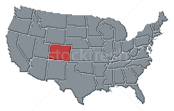 Map of the United States, Colorado highlighted Stock photo © Schwabenblitz
