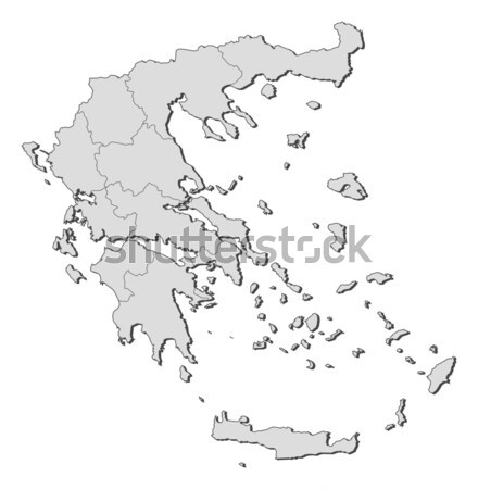 Map of Greece Stock photo © Schwabenblitz