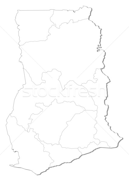 Map - Ghana Stock photo © Schwabenblitz