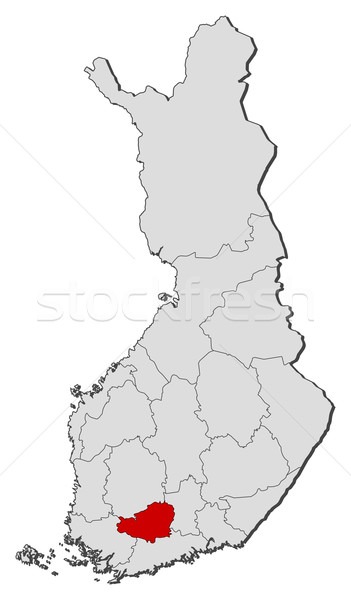 Map of Finland, Tavastia Proper highlighted Stock photo © Schwabenblitz