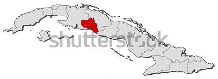 Mappa Cuba villa politico parecchi abstract Foto d'archivio © Schwabenblitz