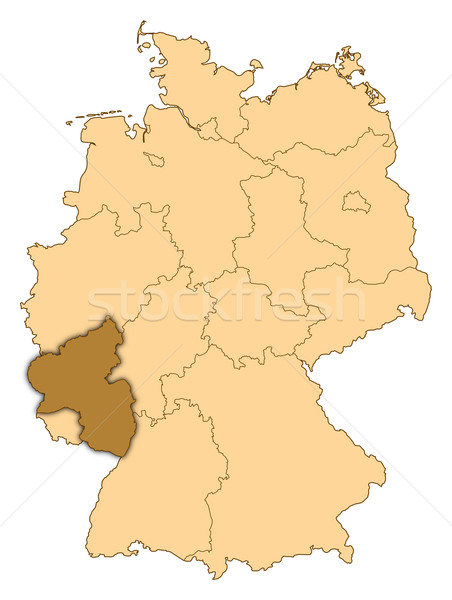 Map of germany rhineland palatinate highlighted stock photo add to lightbox download comp gumiabroncs Image collections