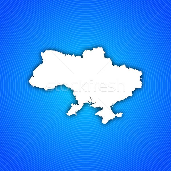 地図 ウクライナ 政治的 いくつかの 抽象的な 世界 ストックフォト © Schwabenblitz