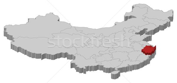 Map of China, Zhejiang highlighted Stock photo © Schwabenblitz