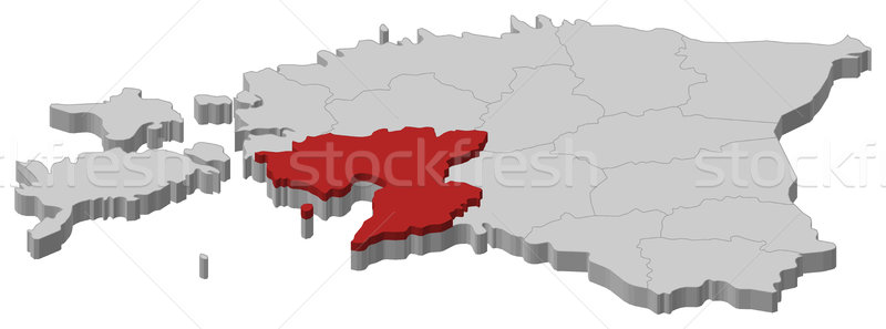 Map of Estonia, P Stock photo © Schwabenblitz