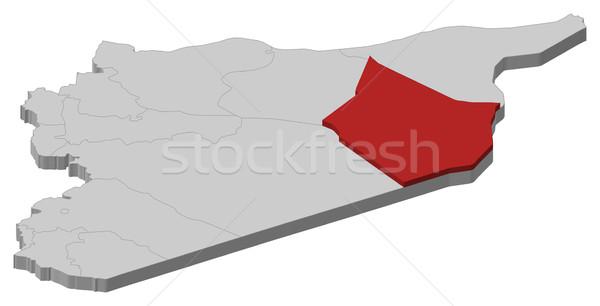 Kaart Syrië politiek verscheidene abstract achtergrond Stockfoto © Schwabenblitz