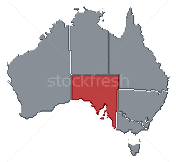 Mapa Austrália sul da austrália político vários sul Foto stock © Schwabenblitz