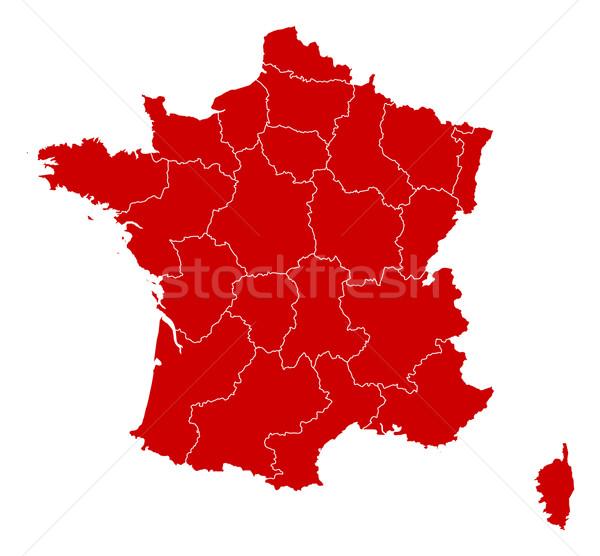 карта Франция черный аннотация фон красный Сток-фото © Schwabenblitz