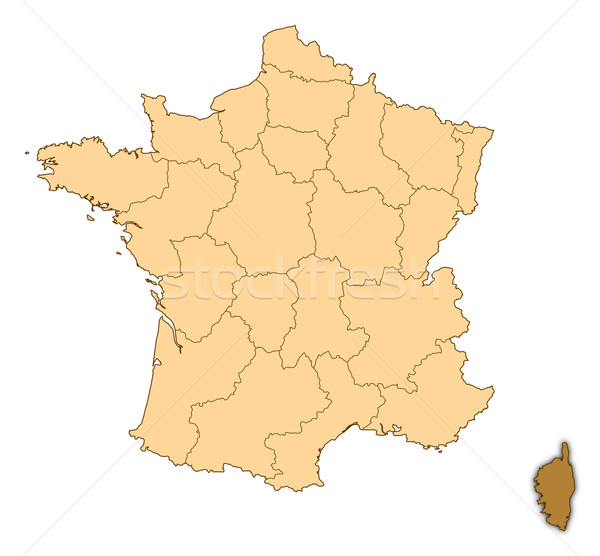 Map of france corsica highlighted stock photo steffen hammer add to lightbox download comp gumiabroncs Gallery