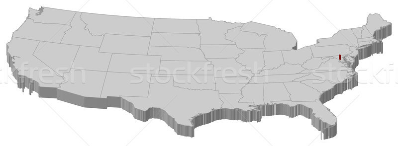 Map of the United States, Washington, D.C. highlighted ...