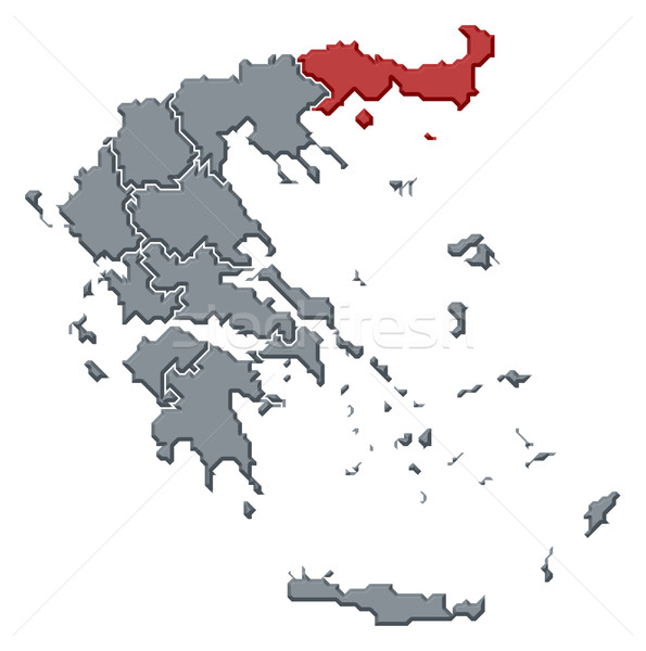 Mappa Grecia Macedonia politico parecchi abstract Foto d'archivio © Schwabenblitz