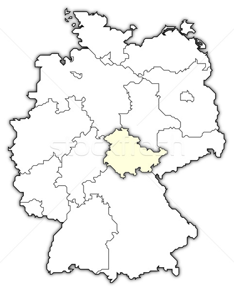 Map of Germany, Thuringia highlighted Stock photo © Schwabenblitz