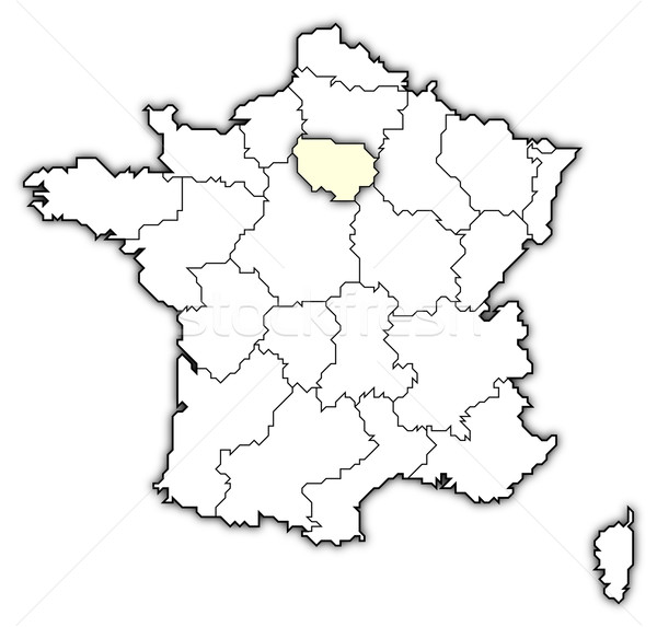 Map of France,  Stock photo © Schwabenblitz