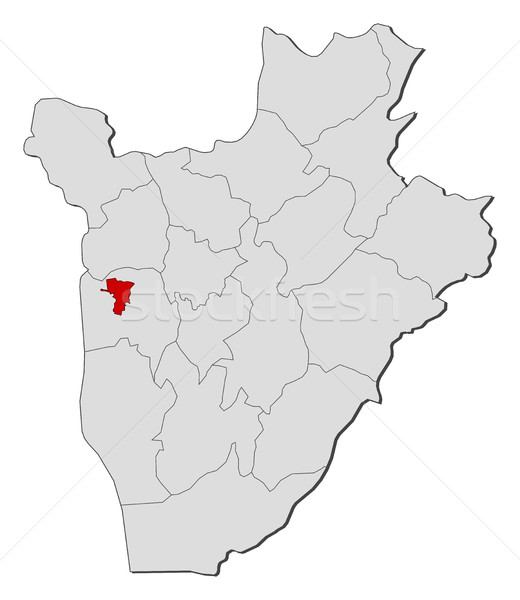 Map - Burundi, Bujumbura Mairie Stock photo © Schwabenblitz