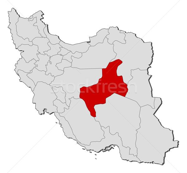 Stock fotó: Térkép · Irán · politikai · néhány · absztrakt · Föld
