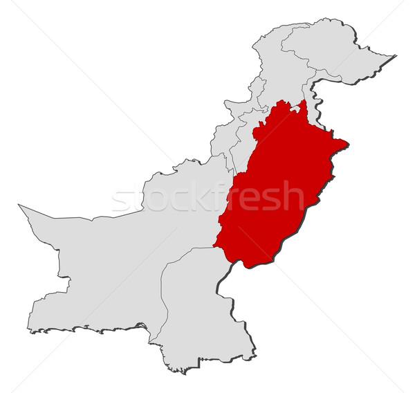 Térkép Pakisztán politikai néhány földgömb absztrakt Stock fotó © Schwabenblitz